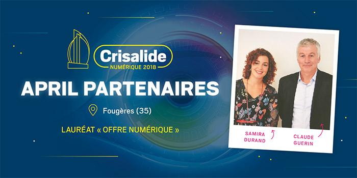 Lauréat Crisalide numérique 2018 : April partenaires