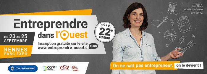 Salon Entreprendre dans l'Ouest du 23 au 25 septembre à Rennes