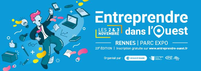 Entreprendre dans l'Ouest les 2 et 3 novembre