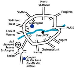 Plan d'accès CCI Ille-et-Vilaine