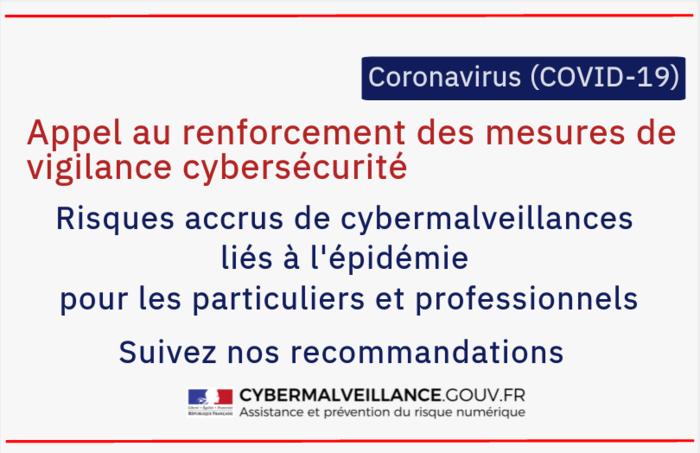 COVID-19 : Appel au renforcement des mesures de vigilance cybersécurité