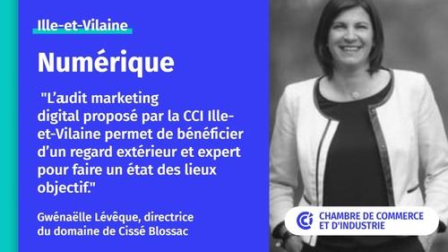 Gwénaëlle Lévêque, directrice  du domaine de Cissé Blossac