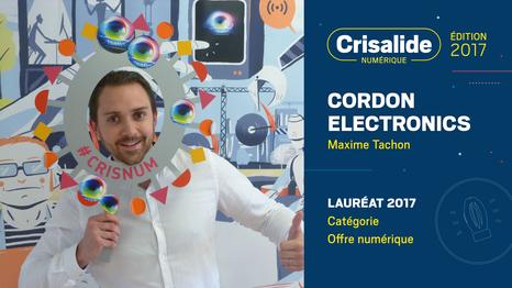 Cordon Elctronics, lauréat crisalide numérique 2017