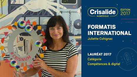 Formatis International, lauréat Crisalide numérique 2017