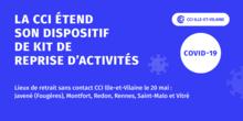 LA CCI ILLE-ET-VILAINE ETEND LA DISTRIBUTION DE KITS DE REPRISE D'ACTIVITES