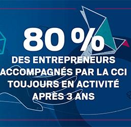 80 % des entrepreneurs accompagnés par la CCI toujours en activité après 3 ans