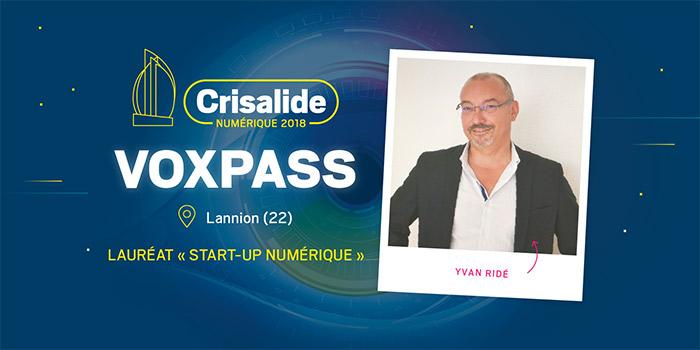Lauréat Crisalide numérique 2018 : Voxpass